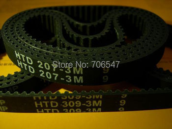 HTD360-3M-9 teeth 120 width 9mm length 360mm HTD3M 360 3M 9 Arc teeth Industrial Rubber timing belt 10pcs/lot